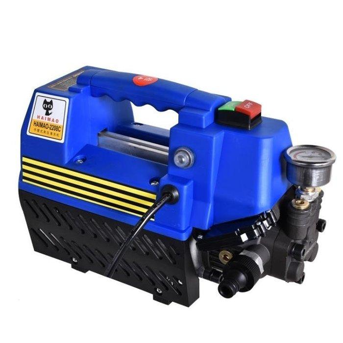 『格倫雅』汽車機 黑貓洗車機高壓220V清洗機家用自動停槍關機洗車器便攜洗車神器^13876