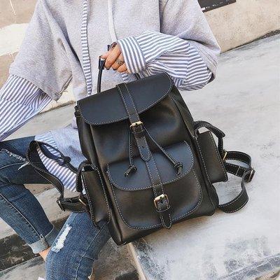 後背包女 學院風雙肩包女2019新款潮歐美時尚學生包書包百搭旅行背包女包