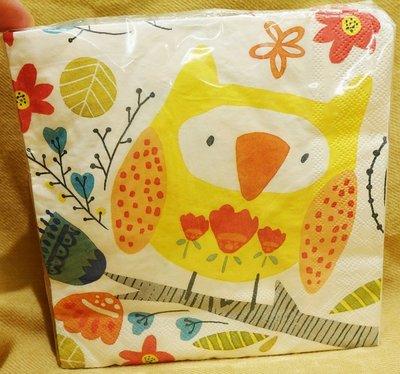 全新從未拆開用過,英國品牌 Ulster Weavers 【Twit Twoo 】高級餐巾紙,每張三層,低價起標無底價!