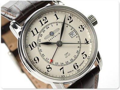 ZEPPELIN 齊柏林飛船 手錶 LZ127 GMT 42mm 德國 飛行錶 航空錶 7642-5