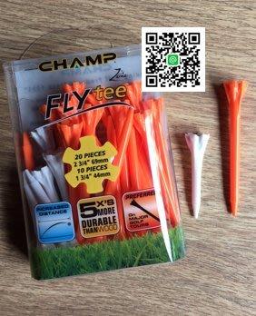 全新 CHAMP  FLY Tee 高爾夫球梯  30入裝  強化設計 堅固耐用