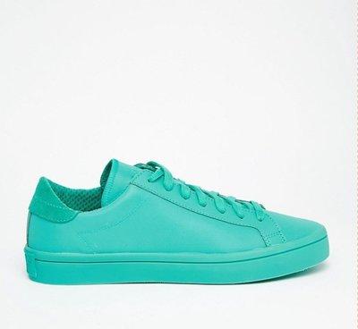 Adidas Court Vantage Adicolor 綠色 皮革 全綠款 經典 運動 男女