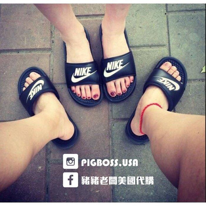【豬豬老闆】Nike Benassi JDI 黑底 白字 拖鞋 【現貨】男女鞋 343880-090 23cm~29cm