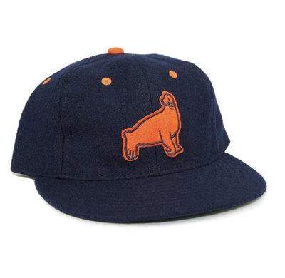 全新 現貨 Ebbets field flannels 海豹 老帽 棒球帽 調節式 復古 騎士 街頭 經典 海軍藍