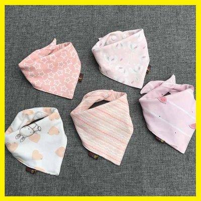 嬰兒口水巾寶寶三角巾純棉雙層按扣春秋新生兒圍嘴兜兒童圍巾