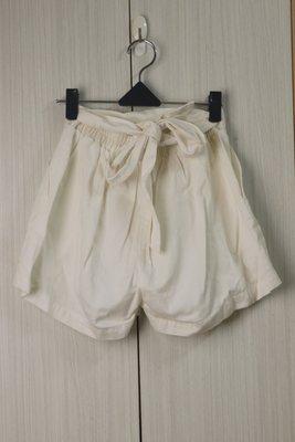 [ColorStar] 實拍現貨日本帶回 NICE CLAUP白色 蝴蝶結彈性棉短褲