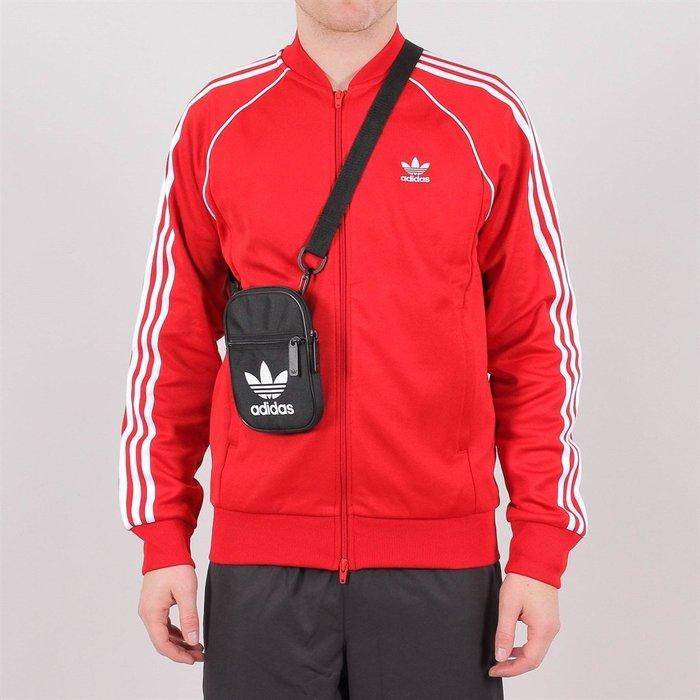 ADIDAS 黑色 運動 側背包 手機包 鑰匙包 肩背包 斜背包 隨身包 小包 餅乾包 DV2405