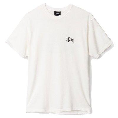 【ComeAgain】Stussy Basic Pigment Dyed 短t 白色 全新 basic logo