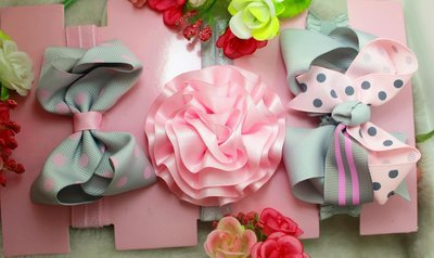 ☆草莓花園☆女童髮帶 時尚可愛花朵蝴蝶結頭飾 百搭款 花色組合7  附精美外盒