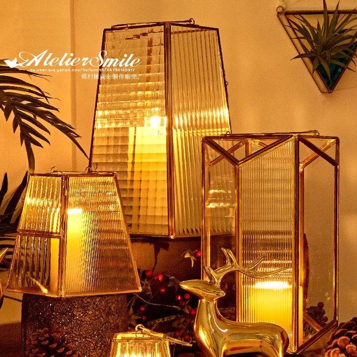 [ Atelier Smile ] 鄉村雜貨 北歐風 / 金屬家飾系列 / 玻璃風燈 / 燭台 # D款 (現+預)