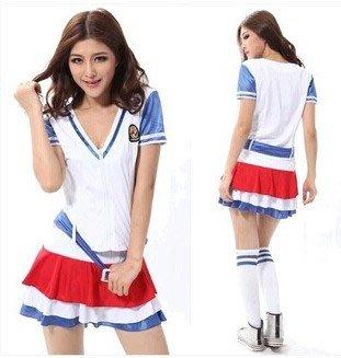 Sexy cheerleader School Uniform Cosplay Costumes party wear
