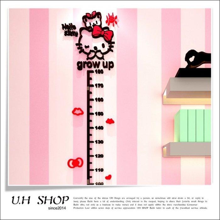 【 U.H SHOP】HELLO KITTY 凱蒂貓 3D立體身高牆貼/壁貼