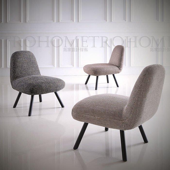 【拓家工業風家具】北歐經典布紋蛋型休閒椅/美式咖啡店美甲店民宿餐廳/餐椅電腦椅會客椅洽談椅主人椅閱讀椅單人沙發IKEA