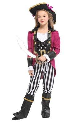 乂世界派對乂萬聖節服裝-萬聖節服裝/海盜服裝/兒童變裝服/兒童海盜裝扮/俏麗海盜女爵士