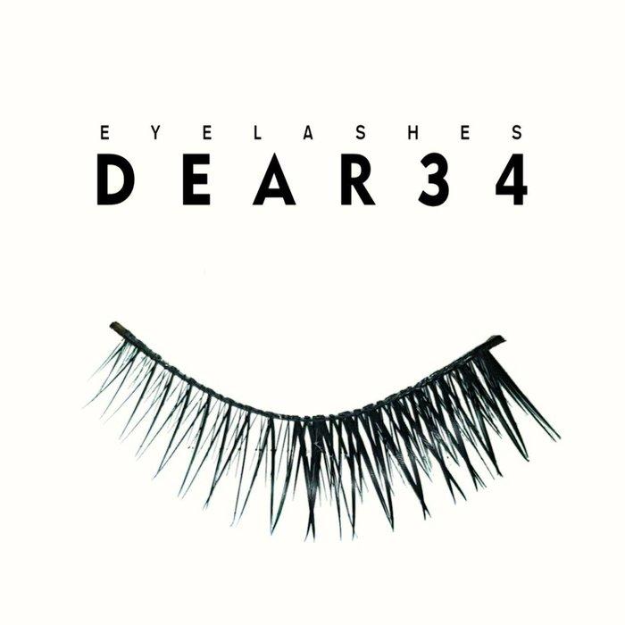 《Dear34》硬梗Y-4眼尾加長密交叉眼尾局部加強濃密 假睫毛 一盒十對價