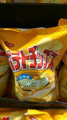 COSTCO好市多代購~『湖池屋』平切洋芋片-北海道玉米濃湯口味500g/包