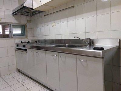 244cm三件式廚具組、不銹鋼廚具、流理台,經濟、實惠、耐用。