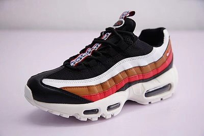 "Nike Air Max 95 TT 復古氣墊百搭慢跑鞋系列 ""黑白棕紅""  AJ4077-002 尺碼: 36-46"