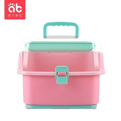 嬰兒奶瓶收納箱盒寶寶晾干架干燥瀝水帶蓋餐具用品防塵儲存盒大號YS