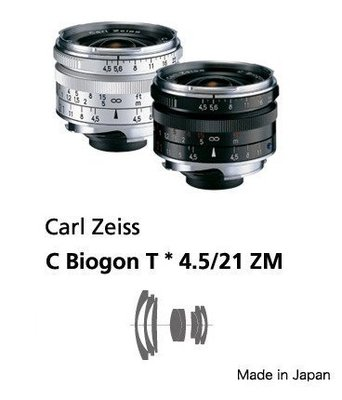 @佳鑫相機@(全新)Zeiss蔡司 ZM C-Biogon T* 21mm F4.5(銀)Leica M用 公司貨特價中