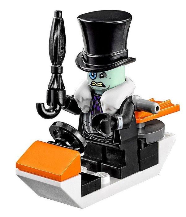現貨【LEGO 樂高】全新正品 益智玩具 積木/ 蝙蝠俠電影 70911 | 單一人偶: 企鵝人+雨傘+逃生車