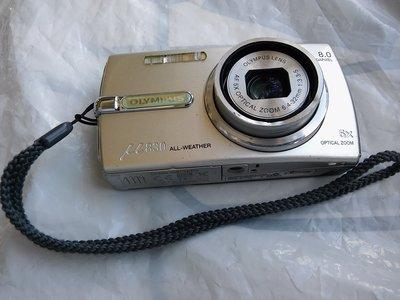 Olympus mju 830 5X 800萬畫素數位相機+原廠手環/使用SD卡(本產品不附記憶卡) 沒電池也沒充電器可