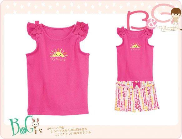 【B& G童裝】正品美國進口GYMBOREE太陽圖樣桃紅色背心上衣12-18mos