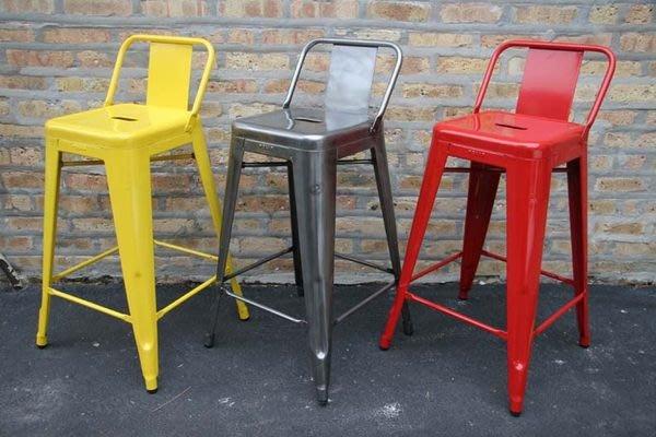 【 一張椅子 】年終特價 Tolix Bar Stool 法國工業風 短背鐵椅,復刻品