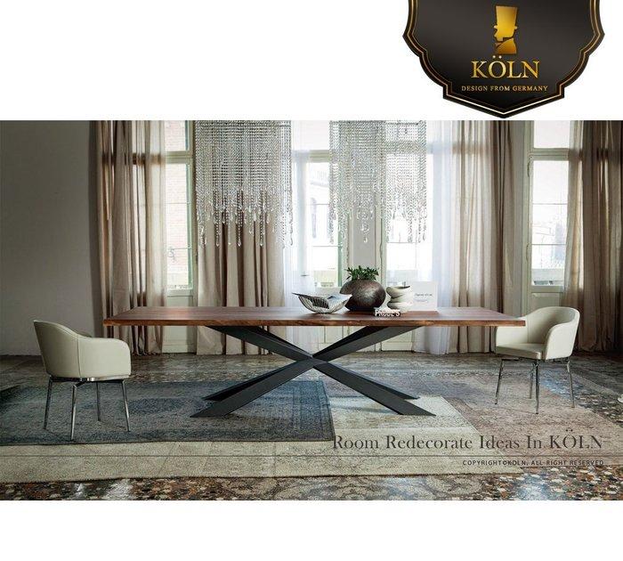 【爵品訂製家具】MF-TD-07 復刻CollecTion北歐風格造型餐桌。(另有自然修邊或拼接胡桃、白橡、栓木實木款)