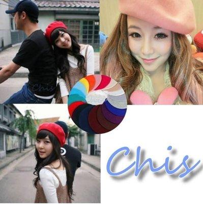 Chis store 早春新品 繼承者們 朴信惠李寶娜REACHEL同款可愛毛呢純羊毛畫家帽貝雷帽約會