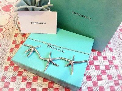 ~桃毛窩~ 罕見款 專櫃真品 Tiffany STARFISH 大海星925純銀項鍊~已送專櫃清洗保養~ 漂亮美品