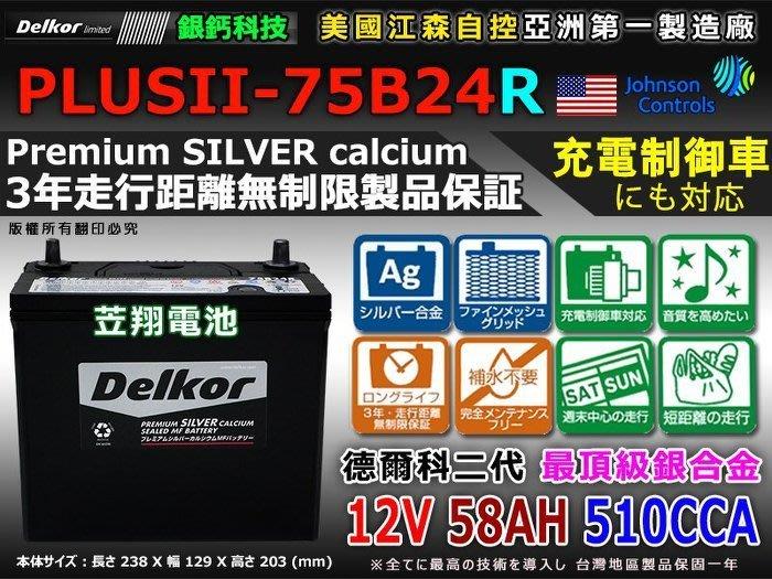 ☎ 挺苙電池 ►Delkor 美國科技搭載  75B24R 510CCA  46B24R