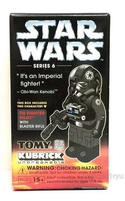 特價 全新Medicom 100% Kubrick Star Wars Series 6 Tie Fighter Pilot