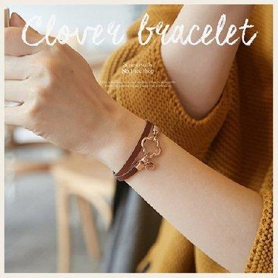 極簡氣質幸運草雙圈手環。韓國飾品。!STYLEON!【cgbr012】