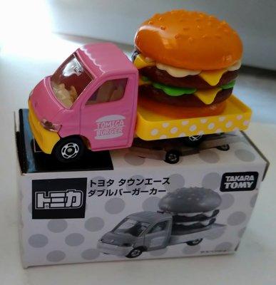 全新 絕版 日本 Tomica shop  限定 非賣品  粉紅色  漢堡 車