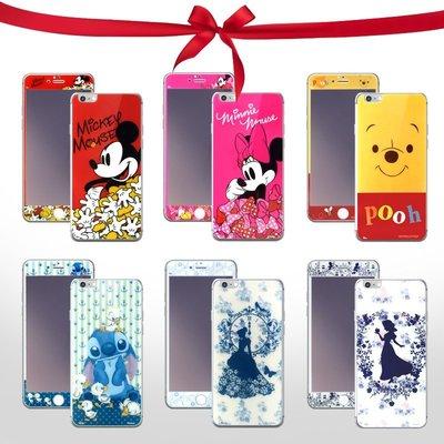 正版授權 迪士尼  Apple iPhone 6 Plus (5.5吋) 正+反 鋼化玻璃保護貼/強化/高透/米奇