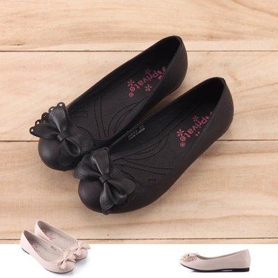 女童 蝴蝶蕾絲霧面飾品 公主鞋 娃娃鞋 平底鞋 Ovan