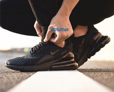 Nike Air Max 270 BLACK 氣墊 網面 透氣 全黑 黑底 黑魂 休閒 慢跑 男鞋 AH8050-005