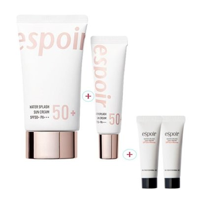 【艾利洋行】 ( eSpoir )Water Splash Sun Cream 水感水潤臉部防曬霜組合 潤色防曬 隔離霜