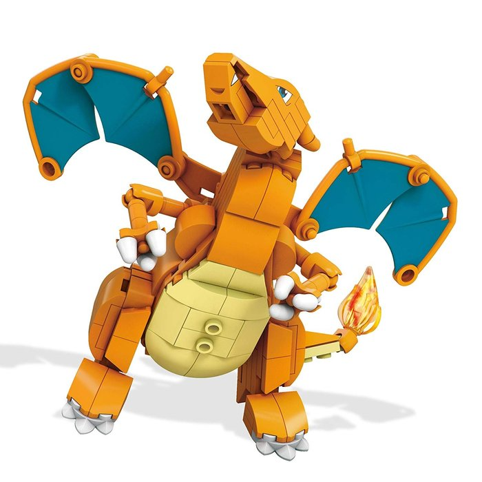 AQI BUY Mega 神奇寶貝 精靈寶可夢 Pokemon Gyarados 噴火龍 樂高 積木 玩具 美國正版