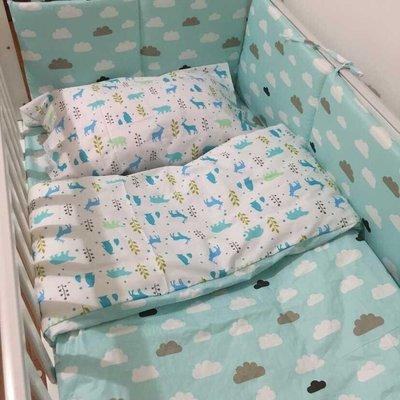現貨日雜zakka宜家ikea北歐風格 寶寶嬰兒可愛床圍 綠雲