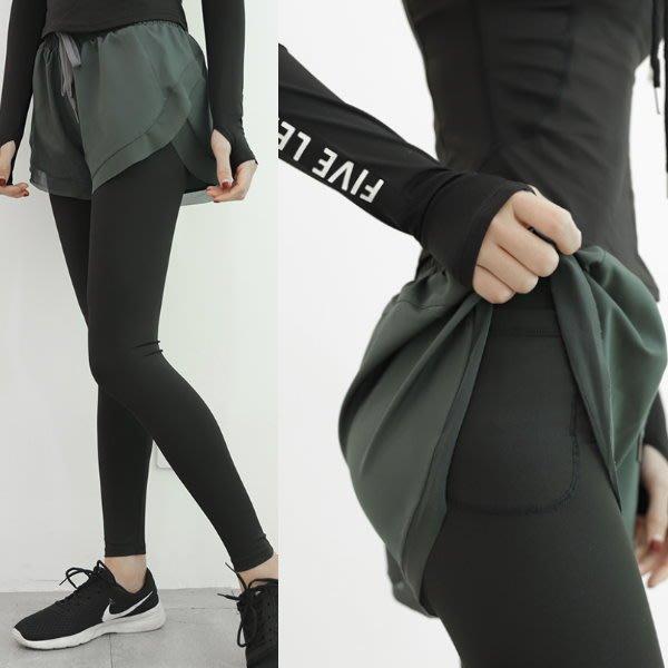 ($388起) 瑜珈褲 #Z55 緊身包臀假兩件暗口袋 無痕速乾