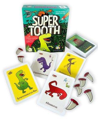 大安殿 店面 附中文說明 Super Tooth 恐龍 巨齒咬咬 益智桌上遊戲