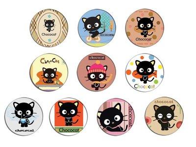 現貨 Chococat pinback BADGE SET 朱古力貓 黑貓 卡通襟章 徽章 (一套10個)