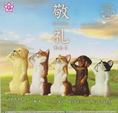 【奇蹟@蛋】YELL (轉蛋)敬禮動物公仔-小狗篇 全5種 整套販 售  NO:6134