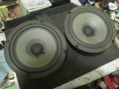 (老高音箱)丹麥peerless 稀有老紙盆中低音單體完整一對 庫存備品