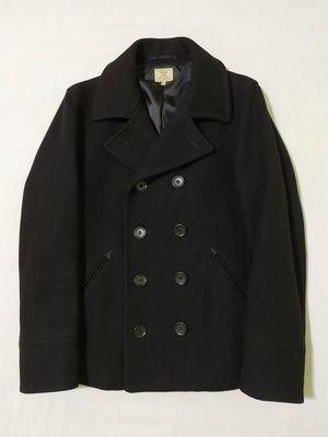 年底清衣櫃 United Arrows GREEN LABEL RELAXING 高磅數 雙排釦 修身 PEA COAT