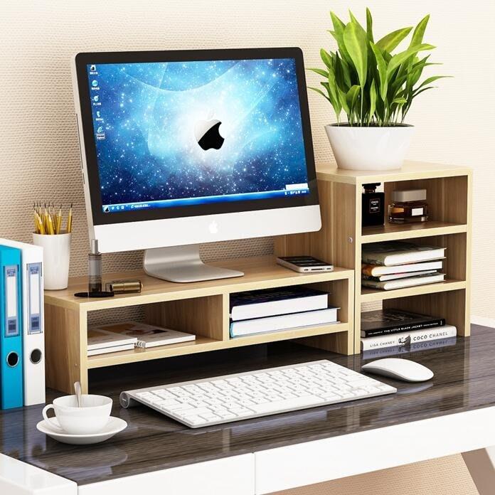 護頸辦公室液晶電腦顯示器屏增高底座支架鍵盤收納盒置物整理 LI1862