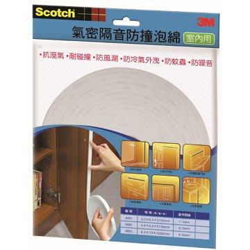 3M 6603 室內用氣密隔音防撞泡棉-大型(6.4*13*4000mm)'4710367606895