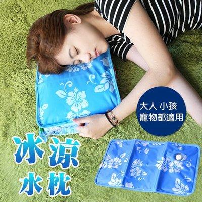 涼爽枕 無印風 枕頭 水枕 清涼 夏天 加水 ( 冰涼水枕 )散熱 降溫 寵物涼墊i-HOME愛雜貨